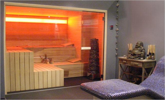 woning inrichting met sauna