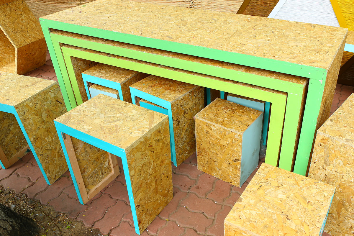 goedkope woonkamer meubels met OSB platen